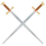 Vector Swords Royalty Free Stock Photography