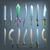 Vector swords set. Royalty Free Stock Photo