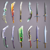 Vector swords set. Vector illustration Royalty Free Stock Photography