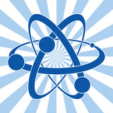 vector symbol of atom Royalty Free Stock Images