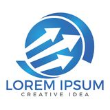 Business abstract logo design. Royalty Free Stock Photo