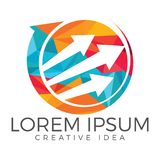 Business abstract logo design. Royalty Free Stock Image
