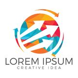 Business abstract logo design. Stock Images