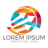 Business abstract logo design. Royalty Free Stock Images