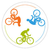 Vector symbol for cycling club. Royalty Free Stock Images
