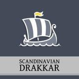 Vector Symbol with Drakkar Stock Photography