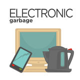 Vector symbol of electronic waste Stock Image