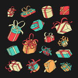 Vector Symbol Gift Set Royalty Free Stock Photography