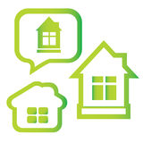 Vector symbol of green house Stock Images