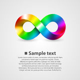 Vector symbol of infinity rainbow Stock Photo