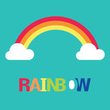 Vector symbol of rainbow and clouds Royalty Free Stock Photos