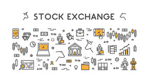 Vector symbol for stock market and stock exchange. Stock Images