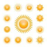 Vector symbol of sun Royalty Free Stock Photos