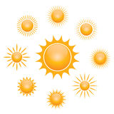 Vector symbol of sun Royalty Free Stock Photo