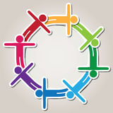 vector symbol of teamwork Stock Photo