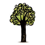 Vector Symbol tree on isolated background Stock Images