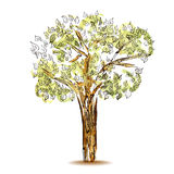 Vector Symbol tree on isolated background Royalty Free Stock Photo