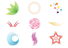 Vector symbols. Collection of colorful  symbols and icons Royalty Free Stock Photos
