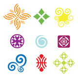 Vector symbols. Collection of colorful  symbols and icons Stock Image