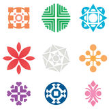 Vector symbols. Collection of colorful  symbols and icons. All colors are print friendly CMYK Royalty Free Stock Images