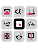 Vector symbols 4 Royalty Free Stock Photos