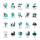 Vector symbols of business process and conducting. Flat vector set symbols of business process and conducting. Simple black label for buttons, websites, mobile Stock Photography