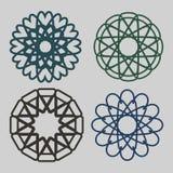 Geometric symmetry circle shape Stock Image