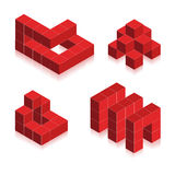vector Symbols created cubes Stock Image