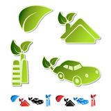 vector symbols of ecology Stock Images