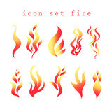 Vector symbols of fire Royalty Free Stock Image