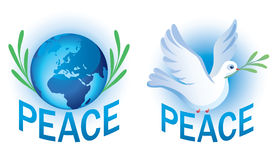 Vector symbols of peace Royalty Free Stock Image