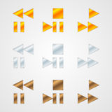 Vector symbols set Royalty Free Stock Photos
