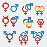 Vector symbols of sexual orientation and gender Stock Image