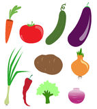 Vector symbols of vegetables Stock Image