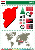 Vector Syria illustration country nation national culture concep Royalty Free Stock Images