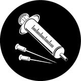 Vector syringe icon Royalty Free Stock Photos