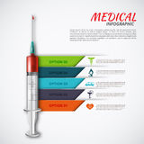 Vector syringe for infographics. Royalty Free Stock Image