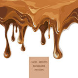 Vector syrup drip pattern on cake layers Royalty Free Stock Images