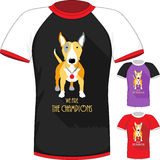 Vector T-shirt with Bull Terrier dog champion Royalty Free Stock Image