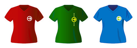 Vector t-shirt collection. Three vector sport t-shirt collection Stock Images