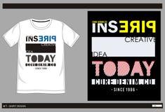 Vector t shirt print men 001. Design vector t shirt with print inspire today for men vector illustration