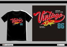 Vector t shirt print men 007 Stock Image