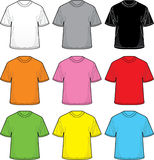 Vector T-Shirts. Great for positioning your own designs Stock Photo