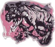 Vector t -t-rex Stock Foto's