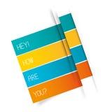 Vector Tab Banner Foto de archivo libre de regalías