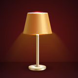 Vector table lamp Stock Photography