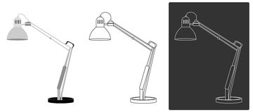 Vector - Table Light. Table Light for computer royalty free illustration