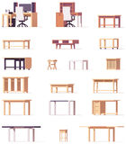 Vector table set Stock Images