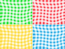 Vector Tablecloth Patterns Stock Image