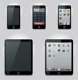 Vector tablet computer and mobile phone icons stock illustration